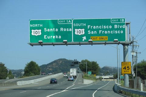 I-580 west at US 101 - San Rafael, CA
