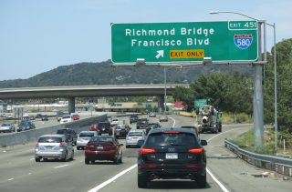 US 101 north at I-580 - San Rafael, CA