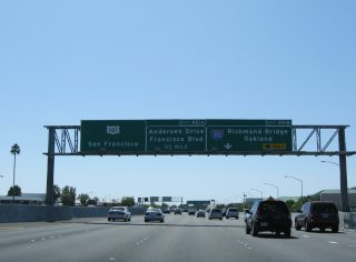 US 101 south at I-580 - San Rafael, CA