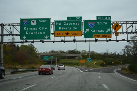 I-29/US 71 south at I-635 - Kansas City, MO