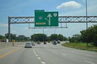 I-35 north at I-635/US 69 - Merriam, KS