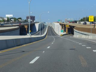 LBJ Express lanes west at SH 289 - Dallas, TX