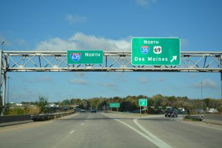 US 69 north at I-35/635 - Mission, KS