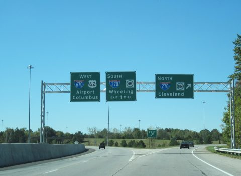 US 62 west at I-670/270 - Gahanna, OH