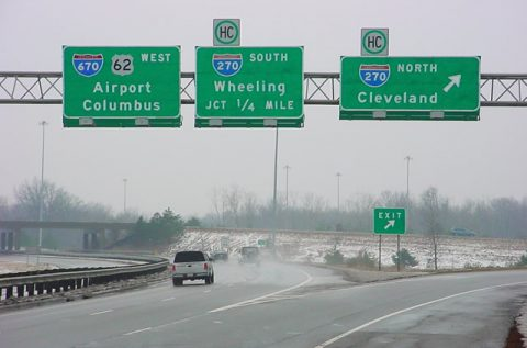 US 62 west at I-670/270 - 2004
