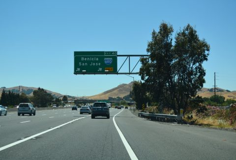 I-80/SR 12 west at I-680 - Fairfield, CA