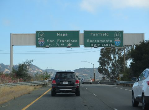 I-680 north at I-80/SR 12 - Cordelia, CA