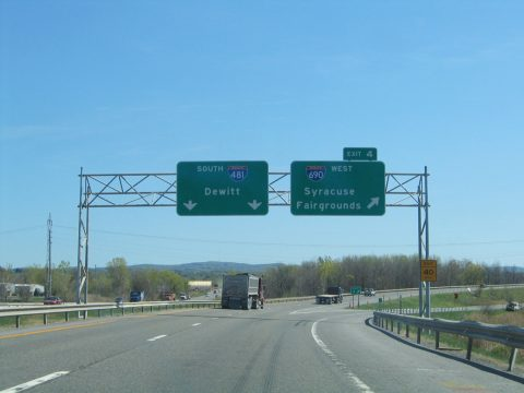 I-481 south at I-690 - DeWitt, NY