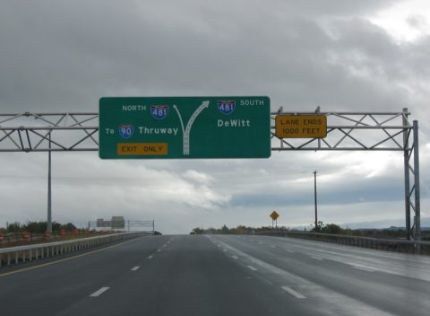 I-690 east at I-481 - East Syracuse, NY