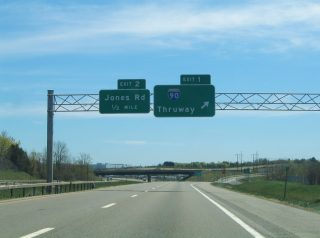 NY 690 south at I-90/I-690 - Van Buren, NY