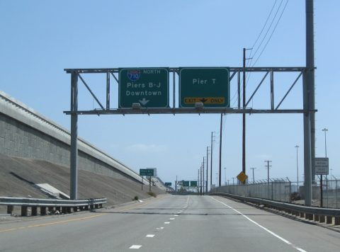 SR 47 north at I-710 - Terminal Island, CA