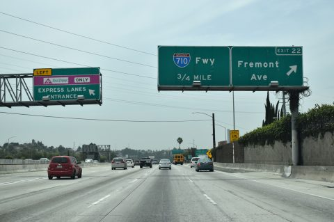 I-10 west at I-710 - Alhambra, CA
