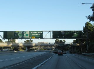 I-210 east at SR 710 - Pasadena, CA