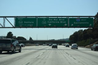 I-210 west at SR 134/710 - Pasadena, CA