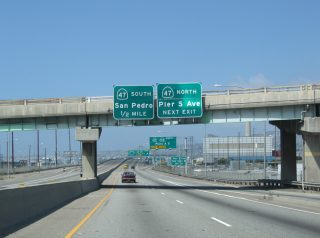 I-710 south at SR 47 - Terminal Island, CA