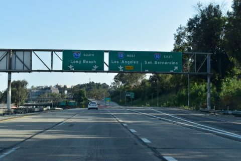 I-710 south at I-10 - Los Angeles, CA