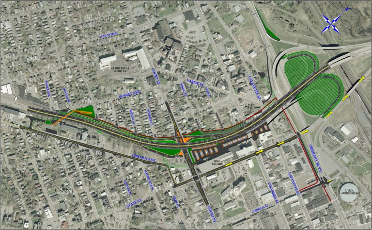 Utica North-South Arterial Project Map