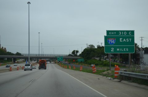 I-43/94 north at I-794 - Milwaukee, WI