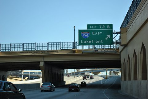 I-43 south at I-94/794 - Milwaukee, WI