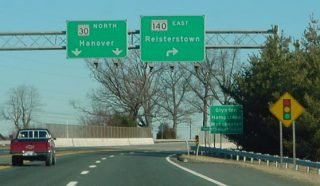 I-795 north at MD 140 - Reisterstown, MD
