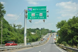 MD 140 east at I-795 - Reisterstown