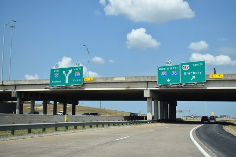 IH 20 west at IH 820 - Benbrook, TX