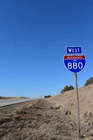 I-880 west at Iowa 191 - Neola