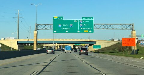 I-41/43/894 east at I-94 - Milwaukee, WI