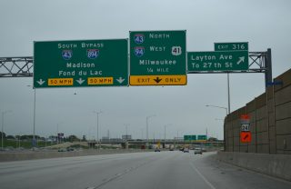 I-41/94 north at I-43/894 - Milwaukee, WI