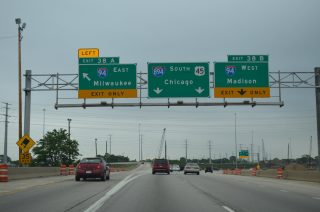 US 45 south at I-94/894 - 2011