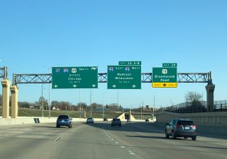 I-41/US 45 south at I-94/894 - Wauwatosa, WI