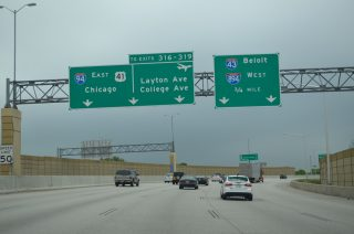 I-43/94 south at I-41/894 - Milwaukee, WI