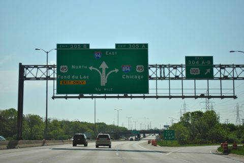 I-94 east at I-894/US 41-45 - 2011