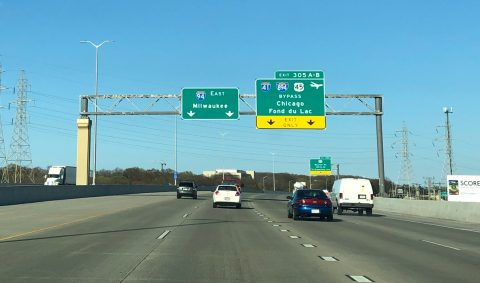 I-94 east at I-41/894-US 45 - West Allis, WI