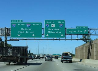 I-94/US 41 north at I-43/894 - 2005