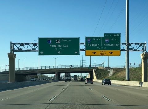 I-894-41/US 45 west at I-94 - West Allis, WI
