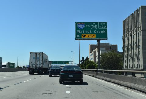 I-880 north at I-980 - Oakland, CA