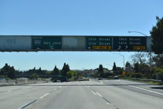 I-980 west at 18th St - Oakland, CA